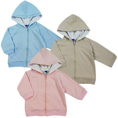 New Baby Boys Size 0 Purely Australian Clothing Co BEIGE Hooded Jacket
