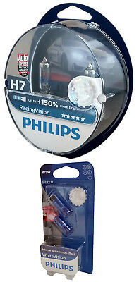Philips H7 12V 55W PX26d Racing Vision +150% Duo + W5W White Vision 12972RVS2