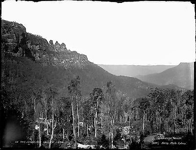 Framed photograph of the Jamison Valley Katoomba c.1890: 594 x 841mm (23.4 x 33)