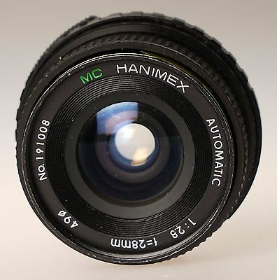 HANIMEX 28mm f2.8 WIDE ANGLE LENS M42  MOUNT