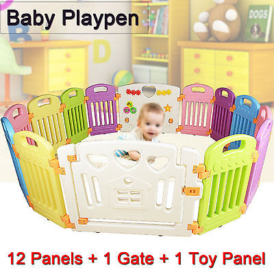 Interactive Kids 14pcs Baby Room Safety Game Playpen Protected Space Fence 1.6m