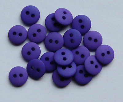 NEW PACK X 20 PURPLE MATT DOME  BUTTONS SIZE 14 (9mm) BABY CRAFT SEWING