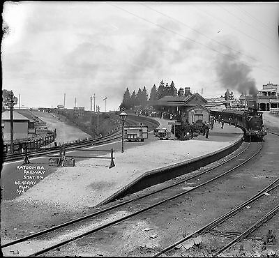 Framed photograph of Katoomba Station c.1910: 594 x 841mm (23.4 x 33)
