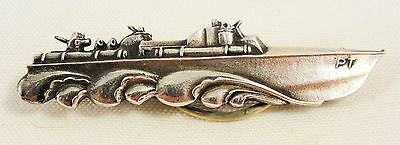 WWII US Navy PT Boat Tie Bar Clasp Sterling Silver SUPER RARE !!!