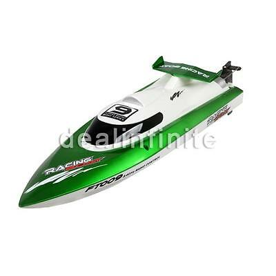 FT009 2.4G 4CH Water Cooling High Speed Remote Control Racing RC Boat Green US