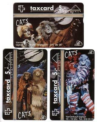Cats (Broadway Musical). Theater Zurich. 3 Phonecards. MINT Phone Card