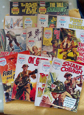 1960s Battle picture library x 7, War Picture x 5, Valiant Picture Library x 2