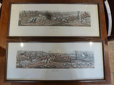 Pair of Antique Hunting Scene Etchings By H Alken 'Full Cry' & 'Breaking Cover'
