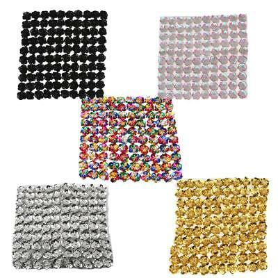 100pcs/Set Sequins Bead Flowers for DIY Sewing on Clothes Dress Bag Shoes 20mm
