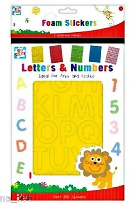 300 FOAM ALPHABET & NUMBERS STICKERS educational toy kids SPELL MATCH