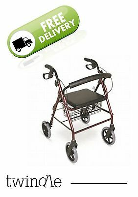 Rollator / Walker with Brakes and Bag