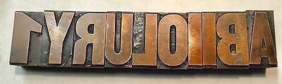 Letterpress Type   Wood and Copper  Miscellaneous Pieces 12 line