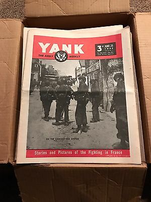 Yank The Army Weekly Lot Of 137 Reprints 1943-45
