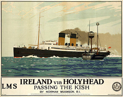 Ireland vintage cruise travel poster repro 20x16