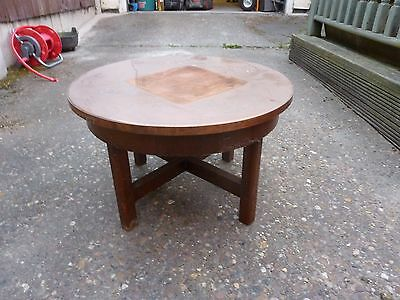 old collectible vintage ? useable restorable Copper top table