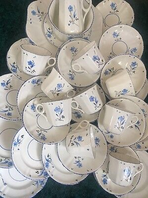 1930s Hand painted Victoria Bone China Tea Set 36 Pieces
