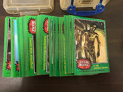 1977 Star Wars Topps Green Series Full Set