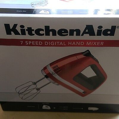 New KitchenAid Hand Mixer Empire Red - Pickup from Ryde (Sydney) or post