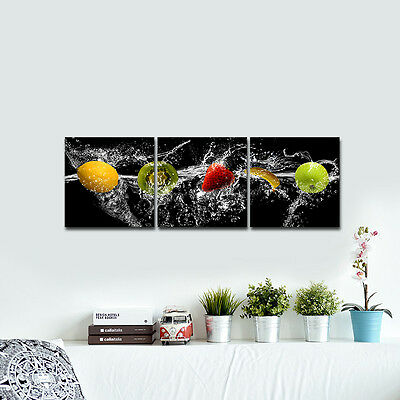 Framed Poster Picture Painting Canvas Print Fruits Cafe Wall Art Home Decor