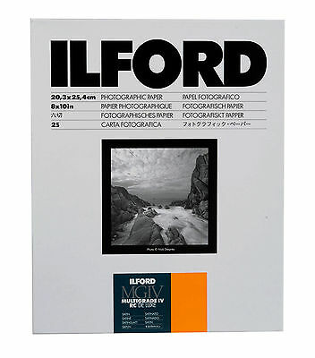 Ilford Multigrade IV RC Deluxe B&W VC Paper (8 x 10in, Satin, 25 Sheets)