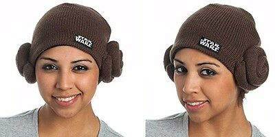 NWOT LICENSED STAR WARS PRINCESS LEIA Hair Buns Knit ONE SIZE Beanie Hat