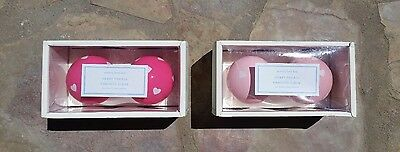 POTTERY BARN KIDS ~ HEART FINIALS  CHOOSE ~ LIGHT PINK or BRIGHT PINK