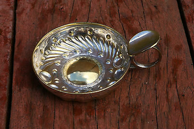 Vintage Tastevin / Tasteing French Silver-plated Cup.
