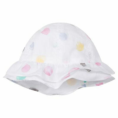 Outlet Absorba Baby Girls' White Polka Dot Sun Hat 6-12 12-18 Months New