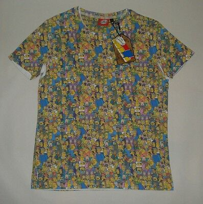 THE SIMPSONS T-SHIRT - ALL OVER PRINT - Gr. S - NEU - Homer Bart Lisa Marge & Co