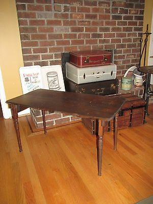"Antique 1890's Folding sewing Table signed "" May & Co "" with 36 "" Ruler Line"
