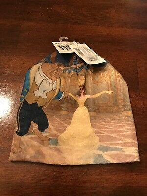 Nwt New Licensed Disney Belle Beauty And The Beast Beanie Hat One Size