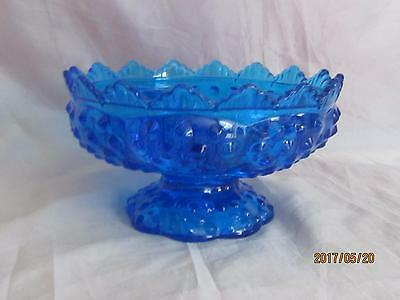 Fenton Glass #3872 Blue Candle Bowl