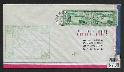 USA 1952 First Flight Cover Am 77 Coeur D Alen to Portland