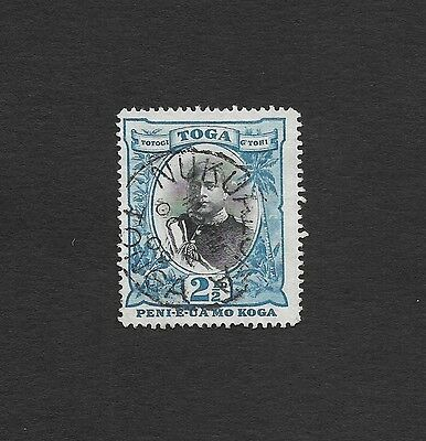 (111cents) Tonga 1897 2 1/2d used Watermark Inverted