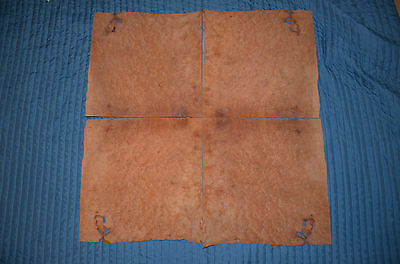 "Lot of Four Madrone Burl Wood Veneer Sheets 16"" x 16"""