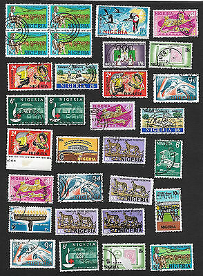(111cents) Nigeria Small Collection of used stamps 80+