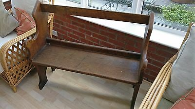 Small Wooden Church Pew Bench