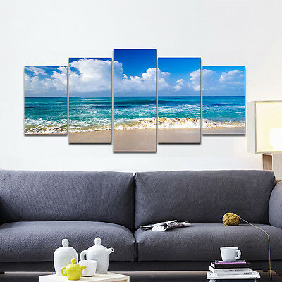 Framed Canvas Print Photo Poster Picture Wall Art Home Decor Seascape Landscape