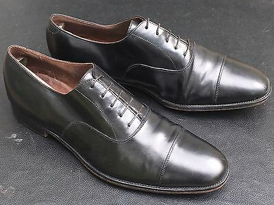 SID MASHBURN Men's Black Calfskin Oxford Dress Shoes Size 12.5 Made In England