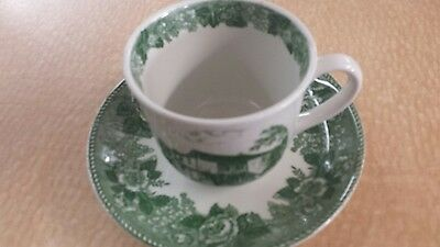 Vintage Harner's Mill , Mitchell IN Coffee Cup and Plate