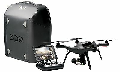 NEW 3DR Solo Smart Drone Backpack Bundle with Gimbal Original Box BB11A 8 Props