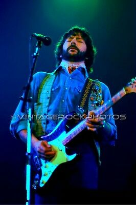 Eric Clapton Photo 8x12 or 8x10 inch Vintage '70s Live Concert Pro Fuji Print 74