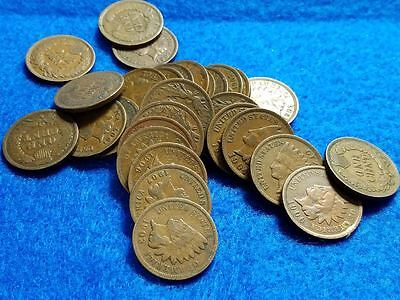 Lot of 30 Indian Head Pennies  1900's  G - Fine Condition
