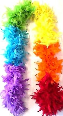 1.82 Mtrs Of Suki's Imports Multi 6-Colour Feather Boa 75G Fancy Dress Accessory