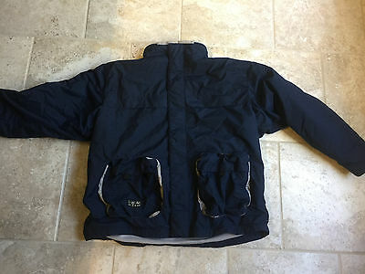 Men's Nike Size XL Navy Blue Polyester Fleece Lined Jacket with Hood