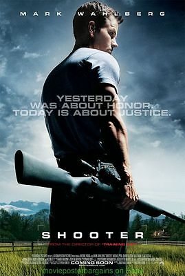 SHOOTER MOVIE POSTER Original DS 27x40 MARK WAHLBERG