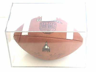 LOU HOLTZ AUTOGRAPH NOTRE DAME - SIGNED WILSON FOOTBALL - in Case