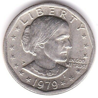 1979-P Wide Rim Near Date Susan B. Anthony Dollar US Coin. Scarce