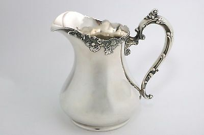 Sterling Silver Water Pitcher Chrysanthemums by Graff Washbourne and Dunn