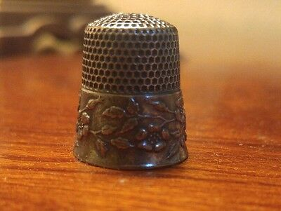Antique Sterling Silver  Thimble by Ketcham & McDougall  with signature F or T